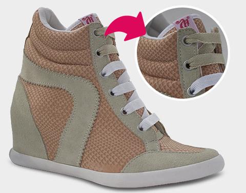 Linha Sneaker, modelo Lace da Capricho