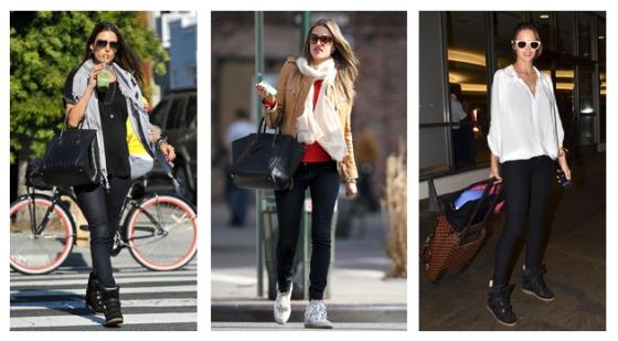 Looks da top Alessandra Ambrosio com sneakers