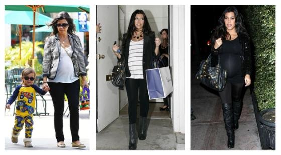 Look para grávidas Kourtney Kardashian