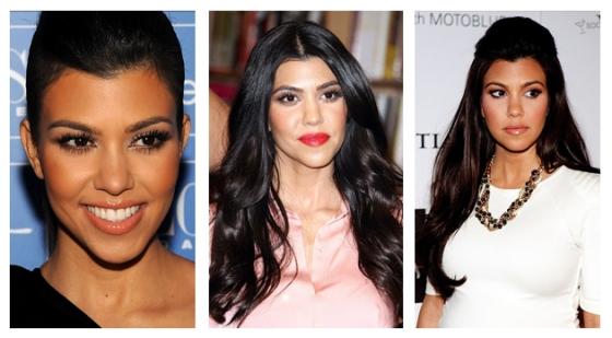Maquiagem e cabelo - Kourtney Kardashian