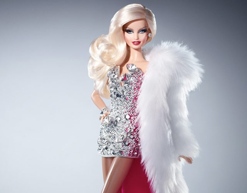 Barbie Blond Diamond pela dupla de estilistas The Blond