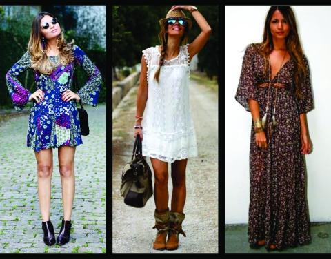 look-estilo-boho-chic-vestido